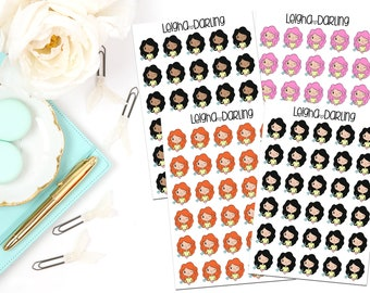 Cleaning Girl Planner Stickers