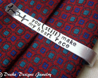 Personalized Tie Clip Secret Message custom tie bar with message hidden on back