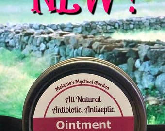 All Natural Antiseptic, Antibacterial Ointment, for minor cuts and burns, boo boo cream, Organic triple antibiotic ointment
