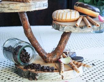 wood cake stand, wooden cake stand, cake stand wedding, cupcake stand, rustic cake stand, tree slice cake stand, tree cake stand, tree trunk