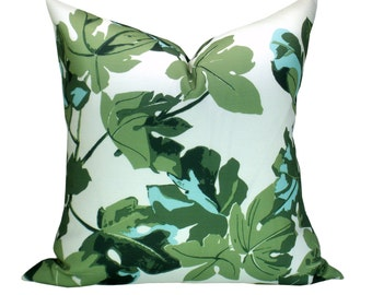 OUTDOOR - Fig Leaf pillow cover in Original on White