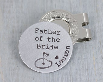 Father Of The Bride Gift - Wedding Gift for Dad - Personalized Golf Ball Marker Wedding Gift - Custom Gift for Father of the Bride