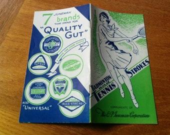 Vintage 1930s Tennis Pamphlet