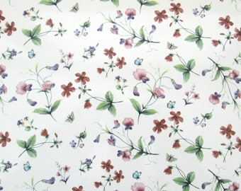 Spring flowers glass fusing decal, floral waterslide transfer, fused glass ceramics decal, craft supplies, kiln craft, fusible art decal