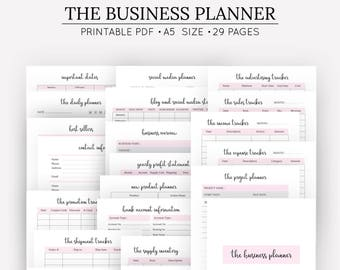 Business plan etsy small business planner template bundle a5 printable home business planner order form etsy business planning kit social media plan wajeb Gallery
