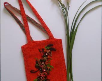 Floral Bag, Bohemian Bag, Boho Bag, Crochet Bag, OOAK Bag