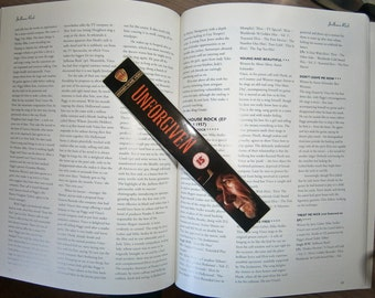 Classic Clint Eastwood - Unforgiven - A Perfect World - Recycled VHS bookmark spine Only ONE of each bookmark available