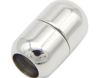 Genuine polished stainless steel strong magnetic clasp internal size of 6mm external of 11mm
