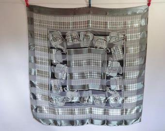 Vintage tartan handbag design large scarf 102cm x 100cm