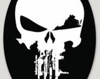 """2x3"""" 3-pack Rifle Skull Yeti/helmet decal"""