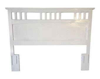 Cottage Style Queen Headboard Made in USA  Painted in White, French Style, Shabby Chic,French Chic!