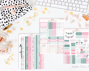 Spring Forward HORIZONTAL Weekly Kit // 130+ Matte Planner Stickers // Perfect for your Erin Condren Life Planner // WKH0550