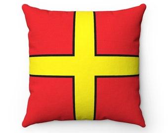 Letter R  Nautical Flag Pillow