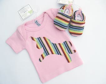 SALE XS Newborn Rainbow Unicorn - Applique Tee -Shoes - Baby Gift Ready to Ship