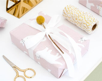 Pink Cats Wrapping Paper,Wedding Gift Wrap,Kitty Wrapping,Holiday Gift Wrap,Craft Paper