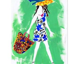 In Capri - A3 Art Print | Made in Australia