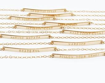 Name Bar Bracelet, Name Plate Bracelet, Romantic Gift Jewelry, Girlfriend Gift Bracelet, Best Friend Gift Bracelet, Minimalist Jewelry