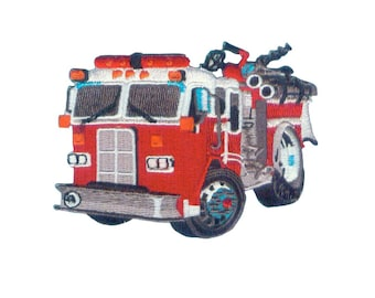 Firetruck Iron On Applique, Firetruck Iron On Patch, Red Truck Patch, Firetruck Applique, Fun Patch, Kids Patch, Embroidered Patch