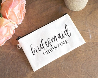 Bridesmaids Makeup Bag - Make Up Bag for Bridesmaids - Trinket Bag for Bridesmaids - Bridesmaids Gift - Gift for Bridesmaids