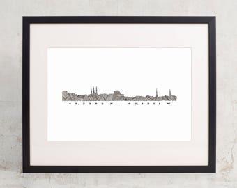 "Charlottetown Skyline - 8.5"" x 11"" Art Print"