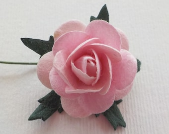 """100! Paper Roses, Pale Pink Rose, Mulberry Paper Roses, Card Making, Embellishments, Pink Paper Flowers, Baby Pink Paper Roses, 20mm /0.8"""""""