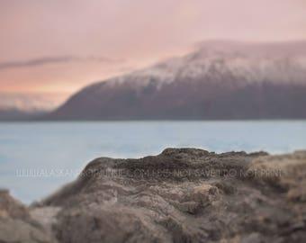 Alaskan Mountains Digital Backdrop I Water I Ocean