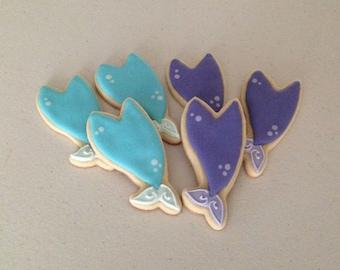 Mermaid Tail Sugar Cookies