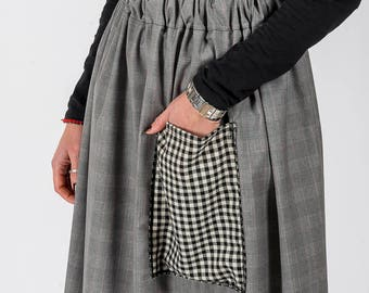 Skirt MoD. Sage/Grey Squares