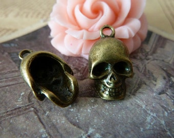 10pcs 12x20mm The SkeletonAntique Bronze Retro Pendant Charm For Jewelry Bracelet Necklace Charms Pendants C205
