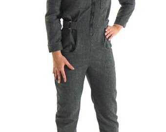 STOP: jumpsuit military style belted.