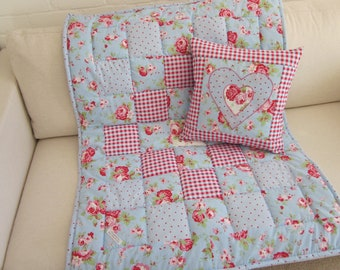 Handmade Patchwork Quilt - Play Mat and Cushion Cover