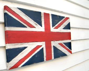 Union Jack drapeau drapeau britannique signe UK Flag drapeau en bois Grande-Bretagne drapeau britannique Decor Angleterre drapeau London cadeau Union Jack Art
