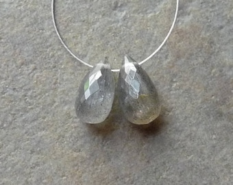 AA Labradorite Faceted Briolette Drop - 5x10mm - Matched Pair