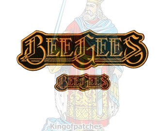 The Bee Gees Embroidered Big or Small Patches Pop Music Disco Band Logo Saturday Night Fever Barry Robin Maurice Gibb