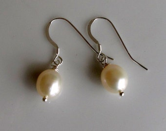 Classic White Freshwater Pearls on Sterling Silver