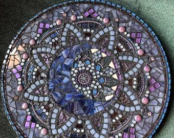 12in. Mosaic Mandala with Moon