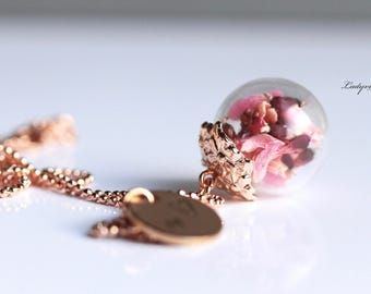 Necklace - Personalized with Flowers