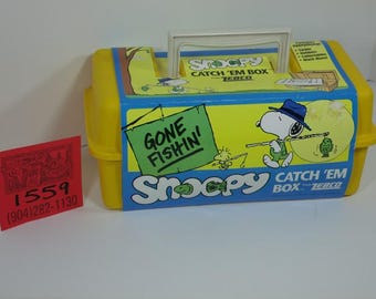 1990's Zebco/Snoopy Tackle Box-Mint