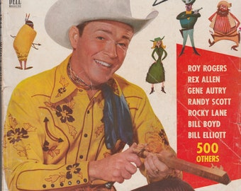 Who's Who in Wester Star #3 1953 Roy Rogers Cover! Dell Magazine 1950s Cowboy Western Gene Autry Rex Allen Randy Scott Bill Boyd