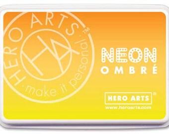 Hero Arts NEON OMBRE Ink Pad -  Neon Yellow to Orange