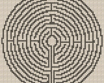 Labyrinth Cross Stitch Pattern