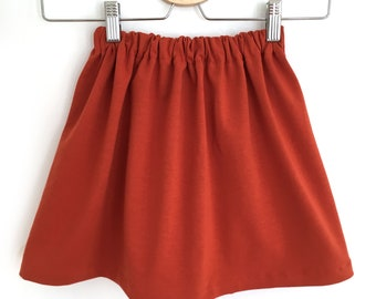 Rust - girl and baby jersey skirt
