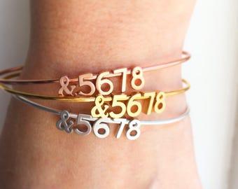 Dance Bracelet - &5678 Bracelet, Dance Teacher Gifts, Personalized Jewelry, Ballet Bracelet, Dancer Gift, Dance Jewelry, Dancer Bracelet
