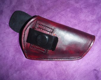 Custom Leather Suede-lined holster