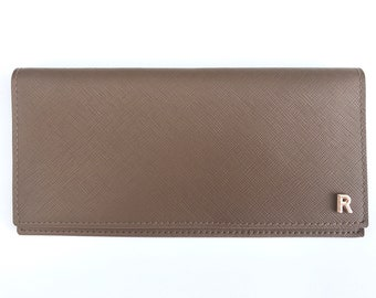 For Him or Her | Long Leather Travel Wallet (7 colours to choose from!) | Monogram with initials