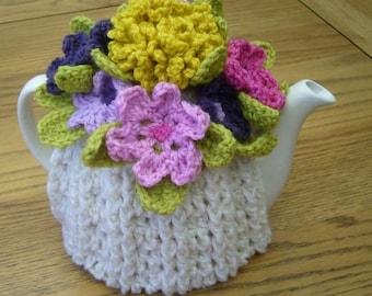 Pattern for Crochet Flower Tea Cosy  (Instant Download)
