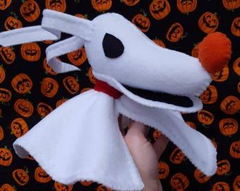 Large Zero plush, Stuffed Zero, Halloween Decor, halloween party, Nbc Zero, ghost dog, halloween decoration, nightmare before christmas