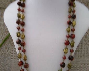 Vintage Very Long Bead Necklace - Now Reduced