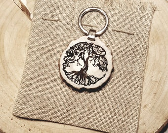 Mothers day gift, engraved tree of life keychain, The best mom, Moms day gift from son and daughter, Gift for nature lover from deer horn