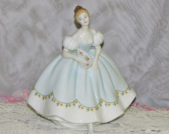 FIRST DANCE Royal Doulton Figurine 1976 Blue Dress Retired